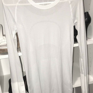 Awesome Lululemon Solid White Swiftly Long Sleeve
